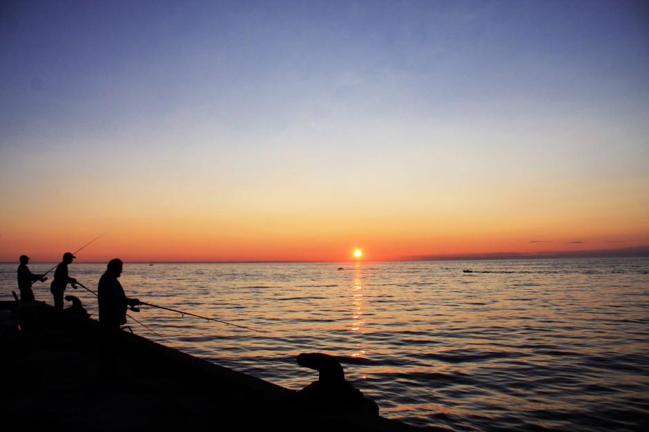 3 pêcheurs soleil